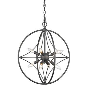 Z-Lite Cortez 8-Light Pendant Light - Bronze