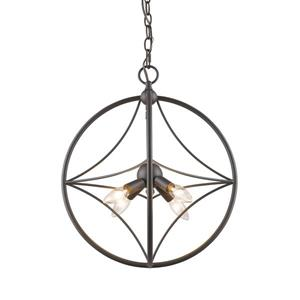 Z-Lite Cortez 4-Light Pendant Light - Bronze