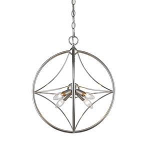Z-Lite Cortez 4-Light Pendant Light - Nickel