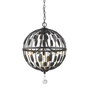 Z-Lite Almet 5-Light Pendant Light - Bronze