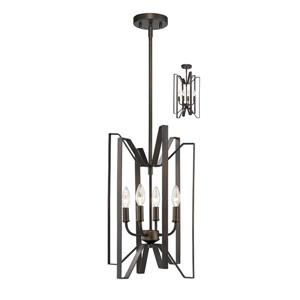 Z-Lite Marsala 4-Light Pendant Light - Bronze