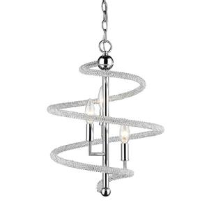 Z-Lite Czarina 3-Light Pendant Light - Chrome