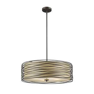 Z-Lite Zinnia Pendant Light - 3 Light - Bronze
