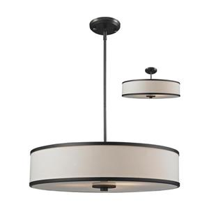 Z-Lite Cameo 3-Light Convertible Pendant Light - Bronze