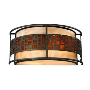 Z-Lite Oak Park 2-Light Wall Sconce - Bronze