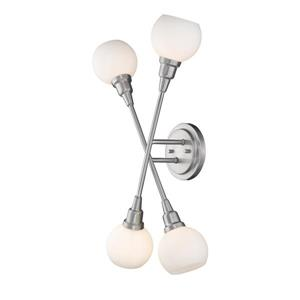 Z-Lite Tian 4-Light Wall Sconce - Brushed Nickel