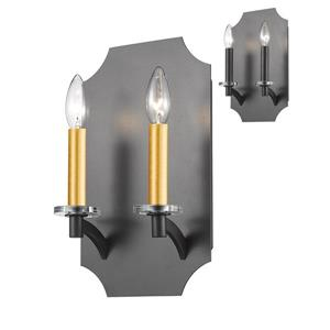 Z-Lite Zander 2-Light Wall Sconce - Bronze