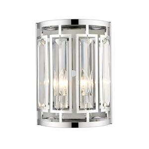 Z-Lite Mersesse 2-Light Wall Sconce - Chrome