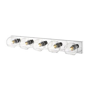 Z-Lite Marquee 5-Light Wall Sconce - Chrome