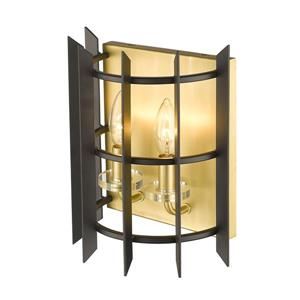 Z-Lite Haake 2-Light Wall Sconce - Brass