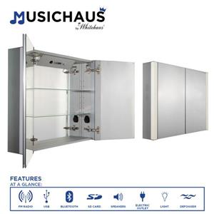 Whitehaus Collection Double Door Electronic Medicine Cabinet