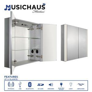 Whitehaus Collection Double Door Electronic Medicine Cabinet