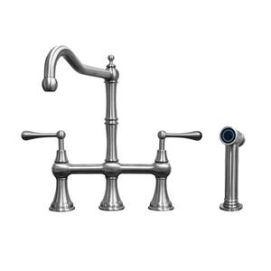 Whitehaus Collection Bridge Faucet - Stainless steel