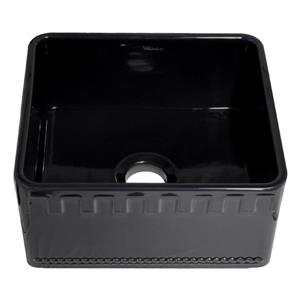 Whitehaus Collection Front Apron Fireclay Sink - 20-in - Black