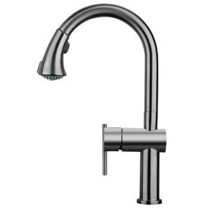 Whitehaus Collection Kitchen Faucet with Pull-Down Sprayer - Pewter