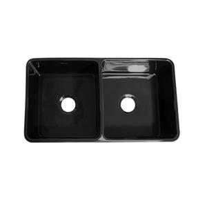 Whitehaus Collection Front Apron Fireclay Sink - 36 3/4-in - Black