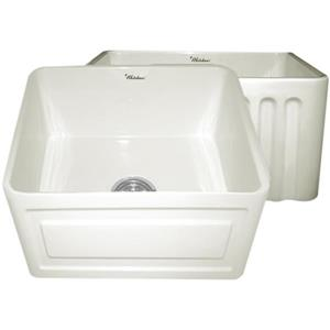 Whitehaus Collection Front Apron Fireclay Sink - 20-in - Off-White
