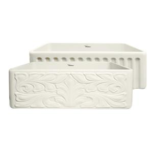 Whitehaus Collection Front Apron Fireclay Sink - 30-in - Off-White