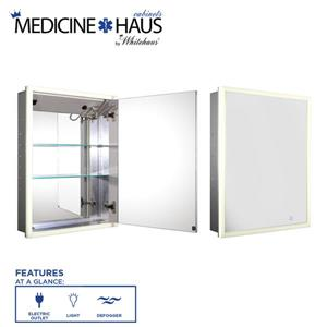 Whitehaus Collection Single Door Electronic Medicine Cabinet