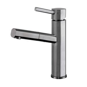 Whitehaus Collection Kitchen Faucet with Pull-Out Spray Head - Pewter