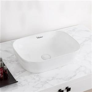Whitehaus Collection Rectangular Above Counter Bathroom Sink - White