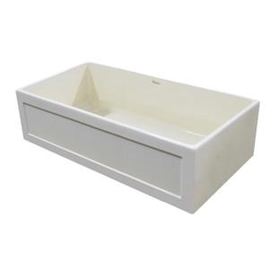 Whitehaus Collection Fireclay Front Apron Sink - 33-in - Off-white