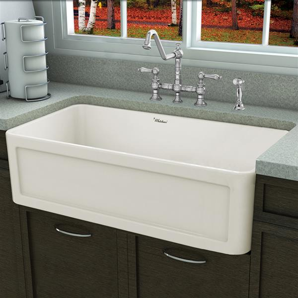 Whitehaus Collection Fireclay Front Apron Sink 33 In Off White Lowe S Canada