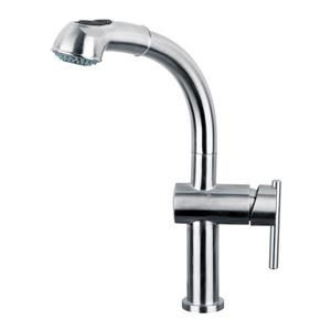 Whitehaus Collection Kitchen Faucet with Pull-Out Spray Head - Stainless steel