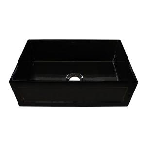 Whitehaus Collection Fireclay Front Apron Sink - 33-in- Black
