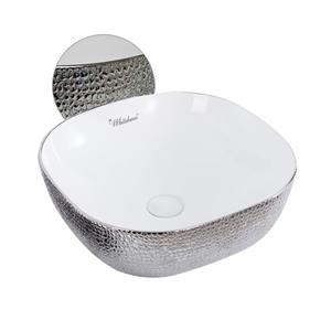 Whitehaus Collection Square Above Counter Bathroom Sink - White