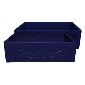 Whitehaus Collection Front Apron Fireclay Sink - 33-in - Blue