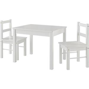 Ameriwood Home Hazel Kid's Table and Chairs Set - White
