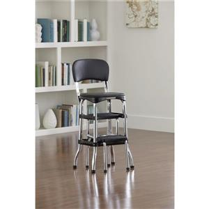 Cosco Stylaire Counter Chair - 2 Sliding Steps - Black - 3'