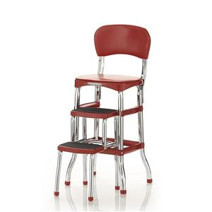 Cosco Stylaire Counter Chair - 2 Sliding Steps - Red - 3'