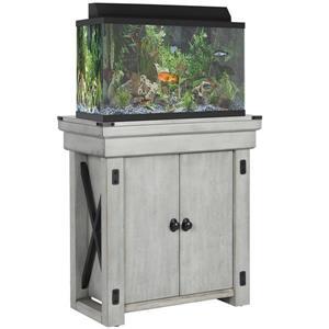 Ameriwood Home Wildwood Aquarium Stand - 20 Gallons - Rustic White