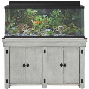 Ameriwood Home Wildwood - Aquarium Stand - 55 Gallons - Rustic White