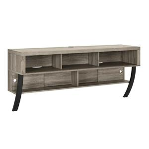 """Ameriwood Home Asher Wall Mount TV Stand - For TVs Up to 65"""" - Gray Oak"""