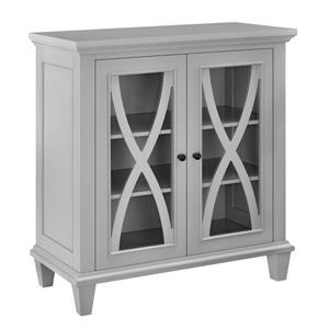Ameriwood Home Ellington Accent Cabinet - 2 Doors - Gray