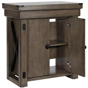 Ameriwood Home Wildwood - Aquarium Stand - 20 Gallons - Rustic Gray