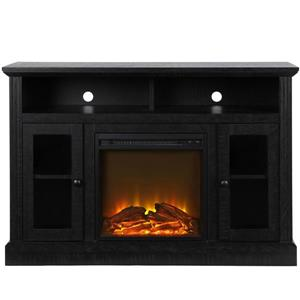 "Ameriwood Home Fireplace with TV Stand for TVs up to 50"" - Black"