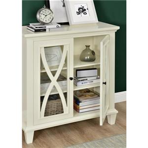 Ameriwood Home Ellington Accent Cabinet - 2 Doors - Ivory