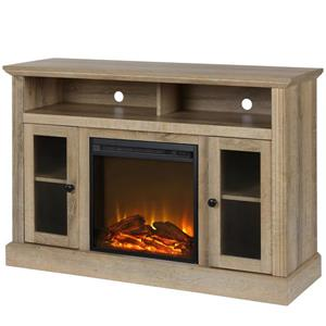 "Ameriwood Home Fireplace with TV Stand - For TVs up to a 50"" - Natural Wood"