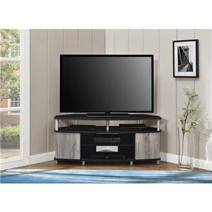 """Ameriwood Home Carson Corner TV Cabinet - For TVs up to 50"""" -Black and Gray"""