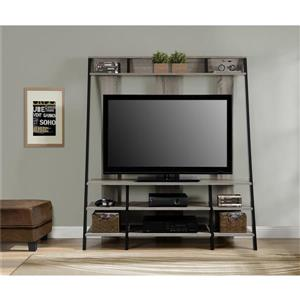 "Ameriwood Home Dunnington TV Cabinet - For TVs up to 48"" - Gray Oak"