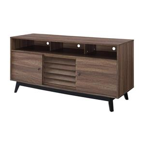 """Ameriwood Home Vaughn TV Cabinet for TVs up to 60"""" - Walnut Brown"""