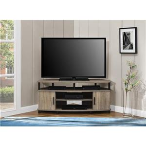 """Ameriwood Home Carson Corner TV Cabinet - For TVs up to 50"""" - Gray Oak"""