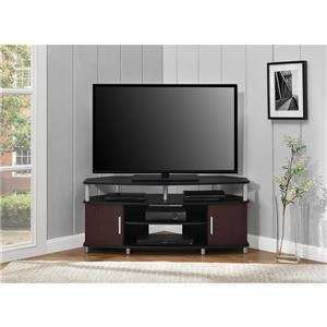 """Ameriwood Home Carson Corner TV Cabinet - For TVs up to 50"""" - Black/Cherry"""