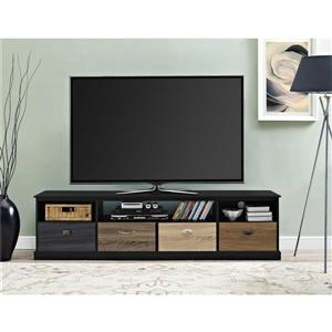 "Ameriwood Home Blackburn TV Console -  For TVs up to 65"" - Black"