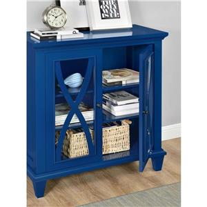 Ameriwood Home Ellington Accent Cabinet - 2 Doors - Blue