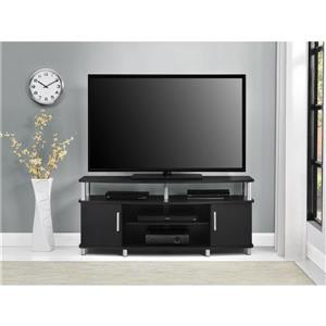 """Ameriwood Home Carson TV Stand for TVs up to 50"""" - 2 Doors - Black"""